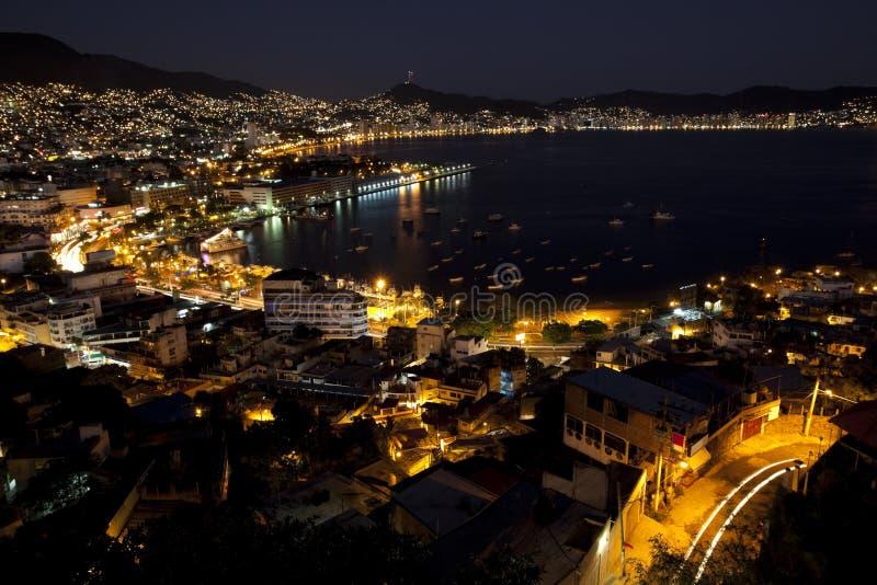 Notti di Acapulco fotografia stock