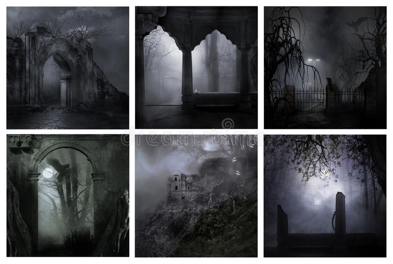Notti terrificanti fredde immagini stock libere da diritti