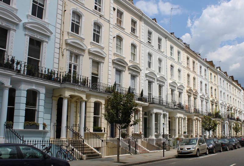 Download Notting hill houses stock image. Image of colors, notting - 22346945