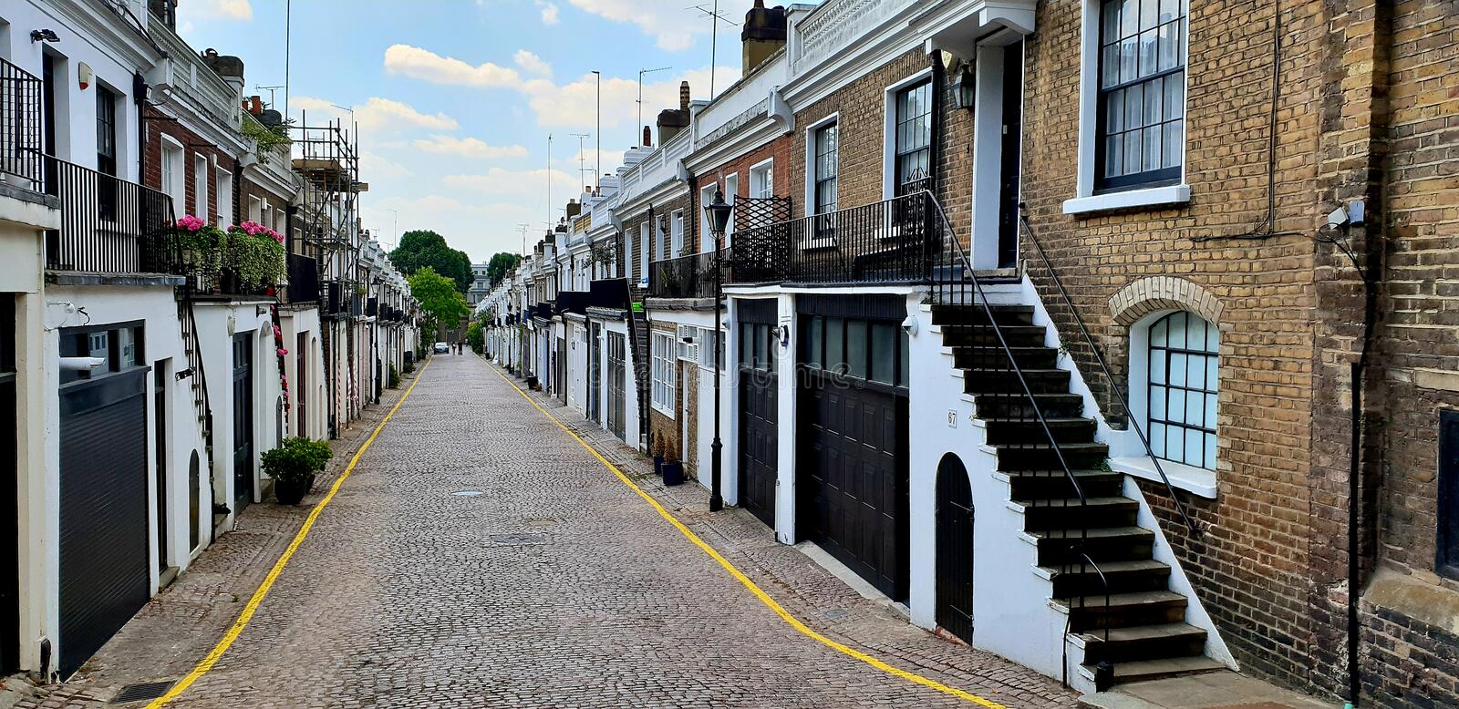 Notting Hill miaule, Londres image stock
