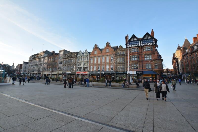 Nottingham centrum i England - Europa arkivbilder