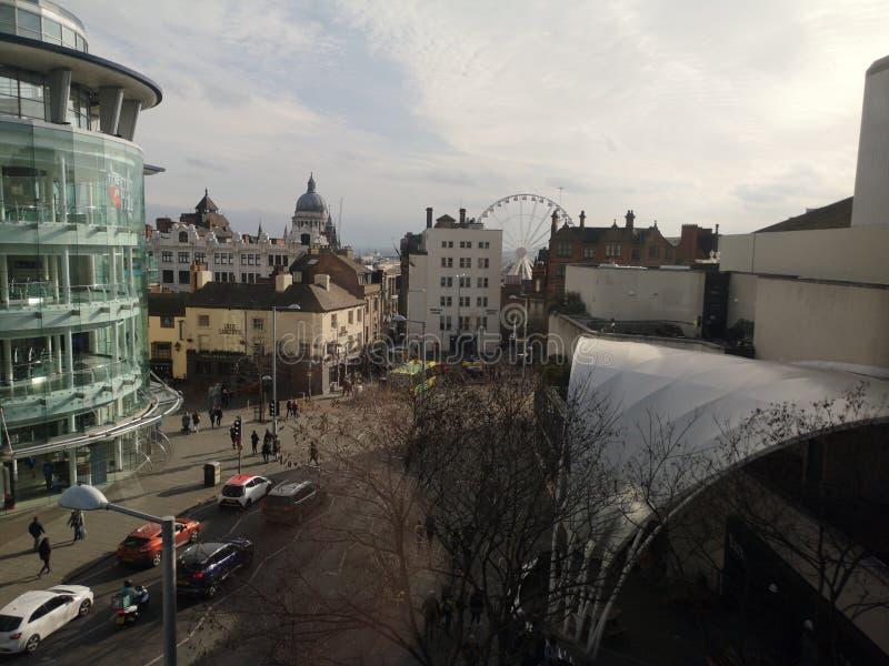 Nottingham City Skyline royalty free stock photo