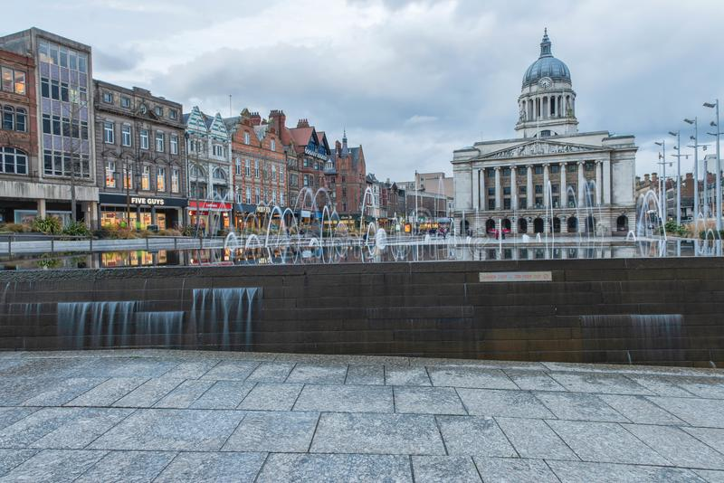 Nottingham em Inglaterra - Europa imagens de stock royalty free