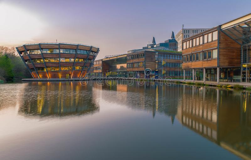 Nottingham em Inglaterra - Europa fotografia de stock