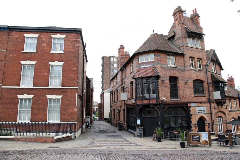 Nottingham gata, UK royaltyfri bild