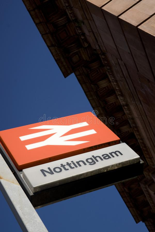 Nottingham, Nottinghamshire, UK, October 2010, Nottingham Railway Station stock photo