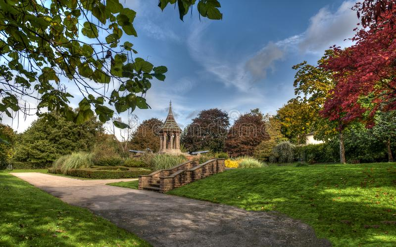 Nottingham`s Arboretum park - United Kingdom. England stock photography