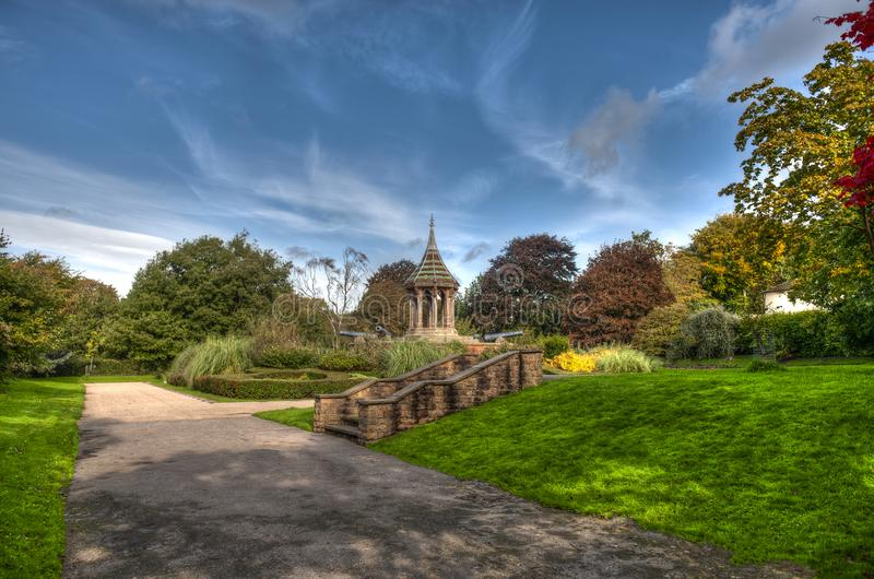 Nottingham`s Arboretum park - United Kingdom. England royalty free stock image