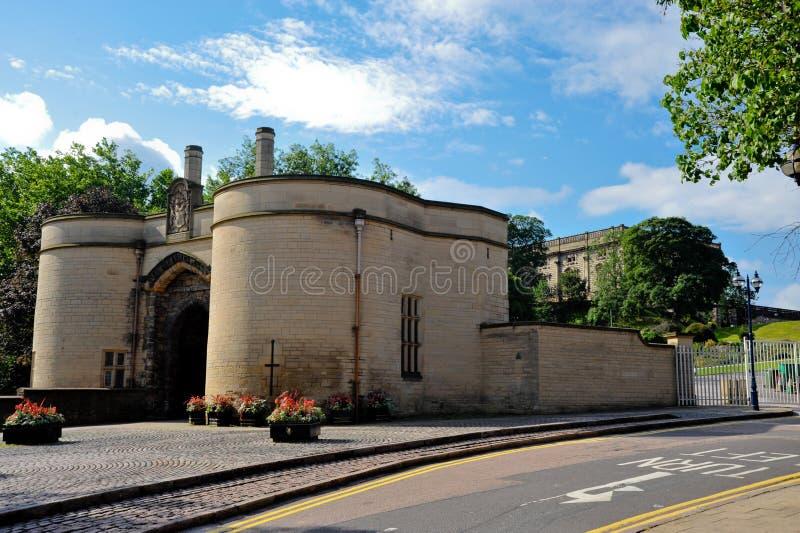 Nottingham-Schloss stockfotografie