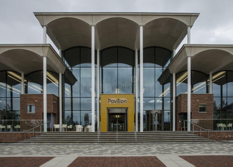 Nottingham Trent Student Union Pavilion royaltyfria foton