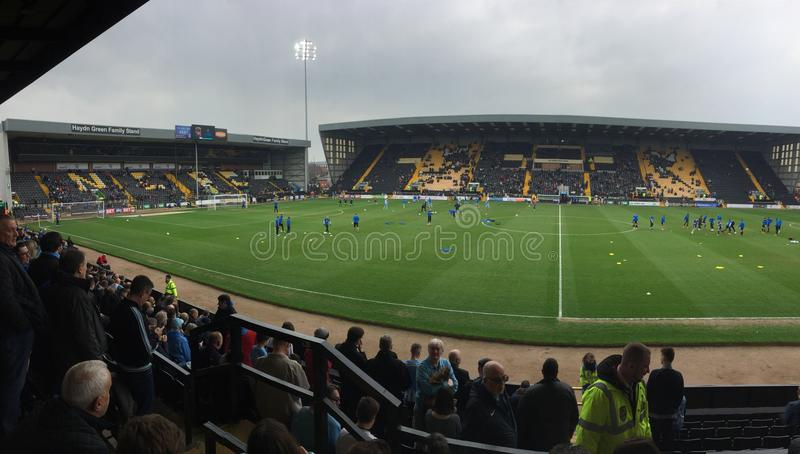Notts County V Coventry Stadt lizenzfreie stockfotografie