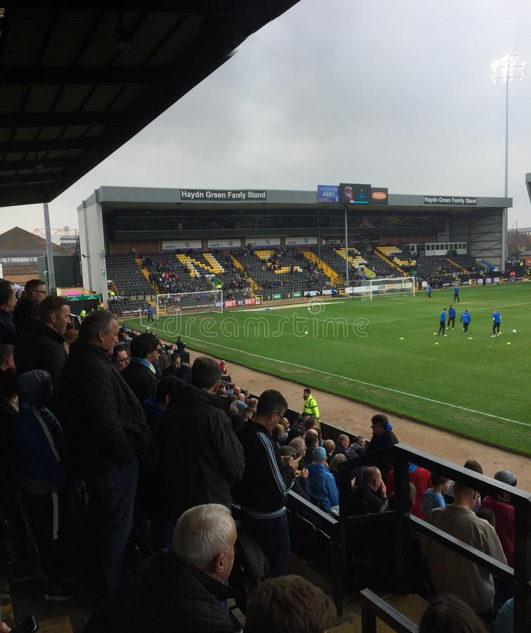 Notts County V Coventry Stadt lizenzfreie stockfotos