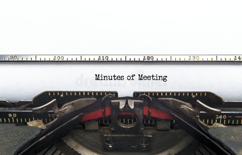 Notulen van Vergadering stock fotografie