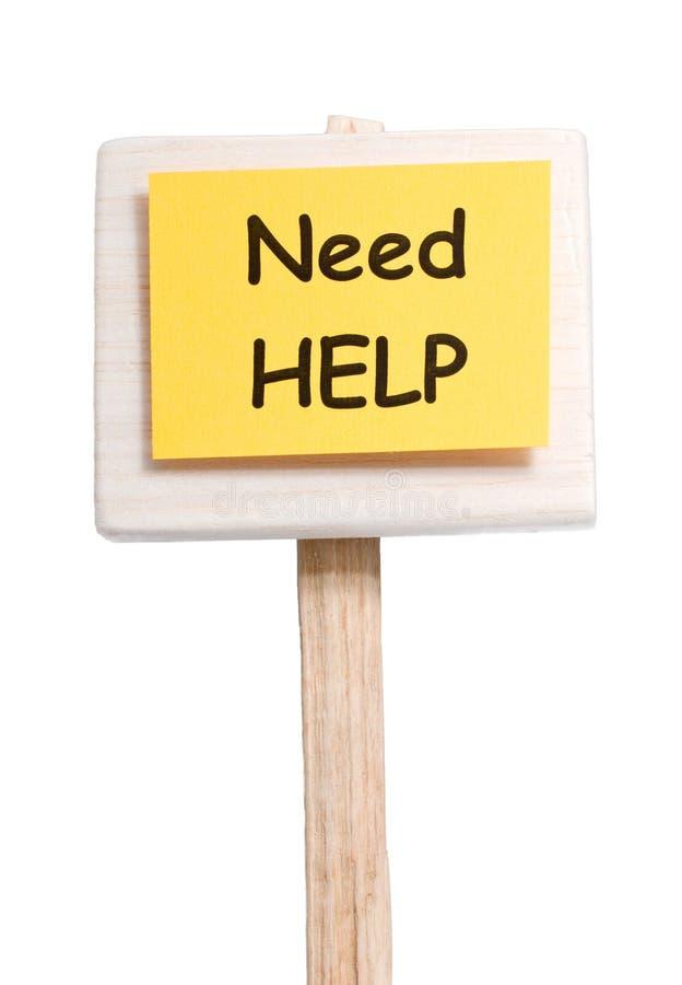 Notwendigkeitshilfe lizenzfreies stockbild