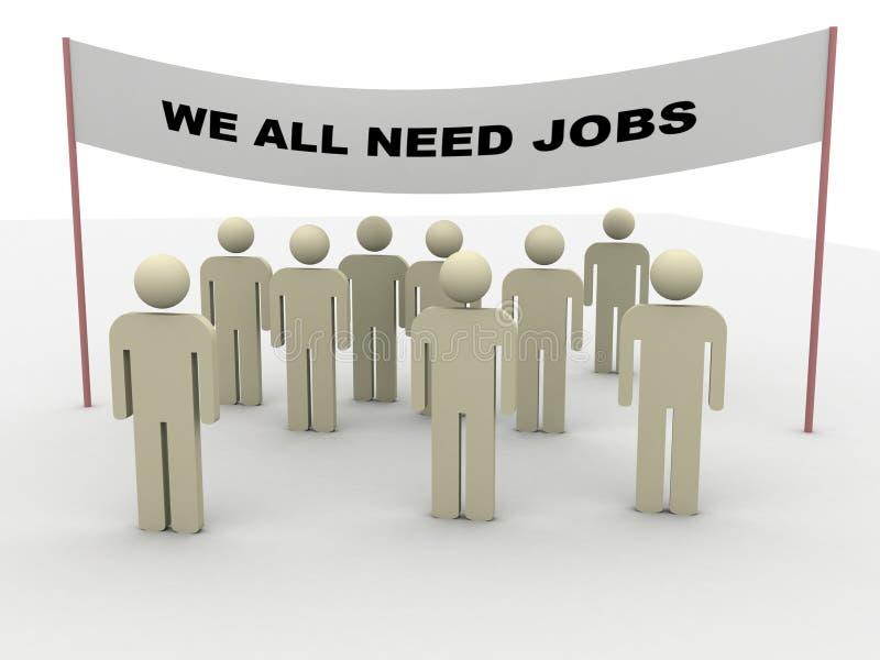 Notwendigkeitsjobs lizenzfreie abbildung