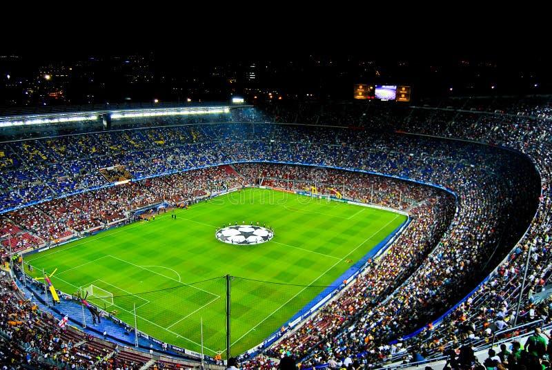 Nou Барселона лагеря champions лига стоковые изображения rf