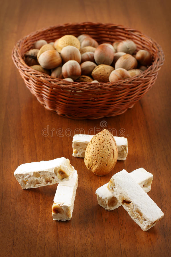 Download Nougat With Almonds Stock Photos - Image: 23304743