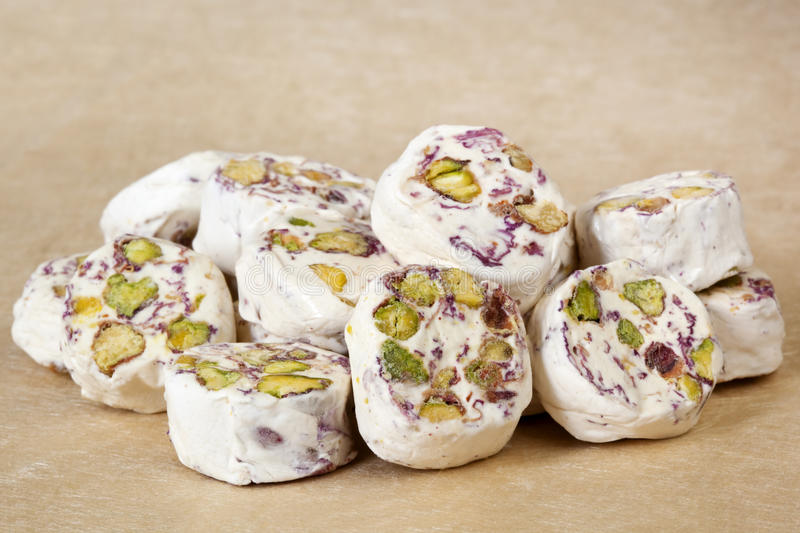 Nougat - Persian with Pistachios royalty free stock photo