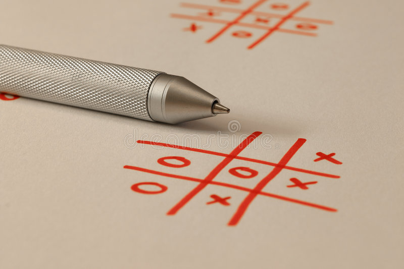 Noughts And Crosses - Tic Tac Toe stock images