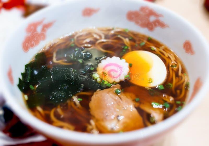Nouille de ramen de Shoyu dans le style japonais photos stock
