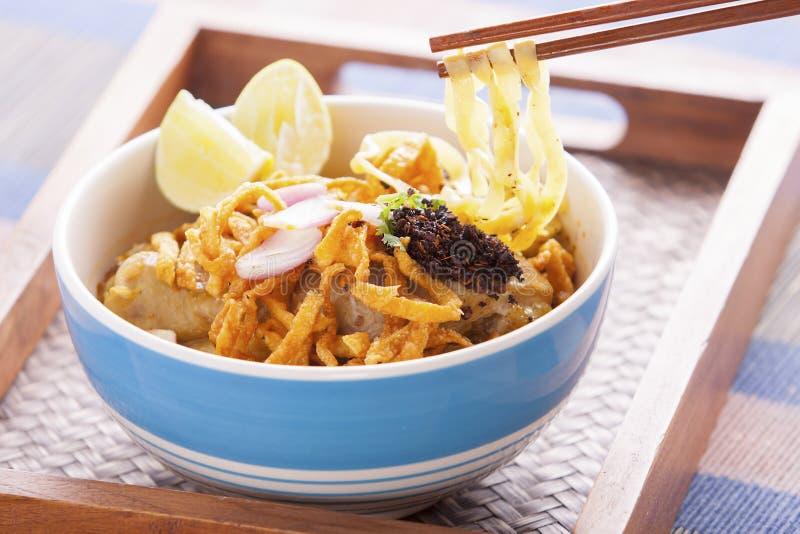 Nouille thaïlandaise de cari de soi de Khao. photographie stock