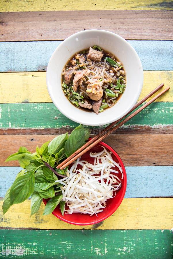 Nouille thaïlandaise de soupe images libres de droits