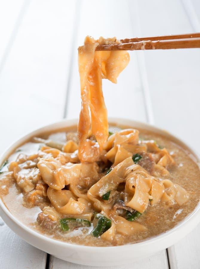 Nouilles à base de riz asiatiques images stock