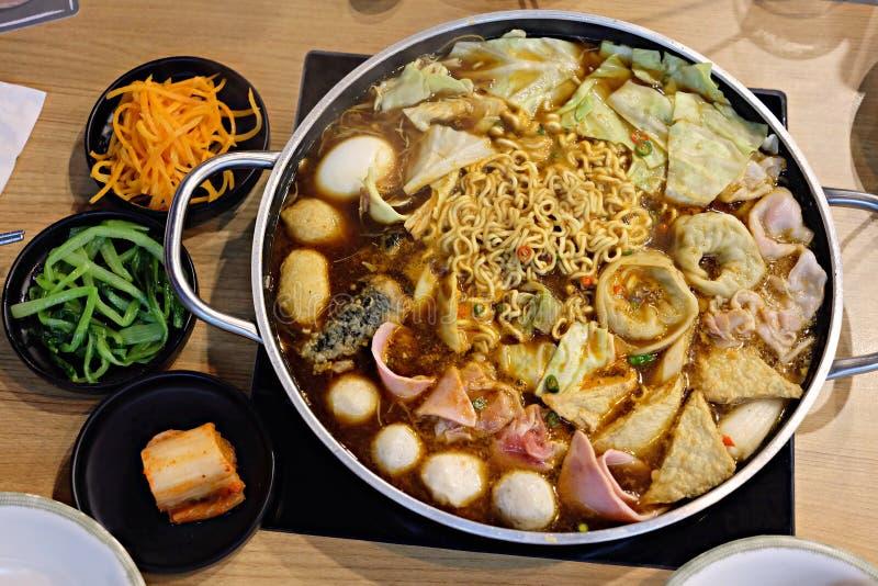 Nouilles coréennes délicieuses image stock