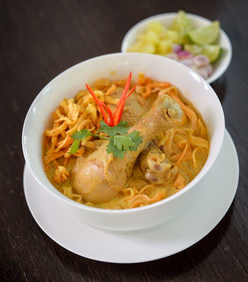 Nouilles de cari, nourriture thaïlandaise images libres de droits