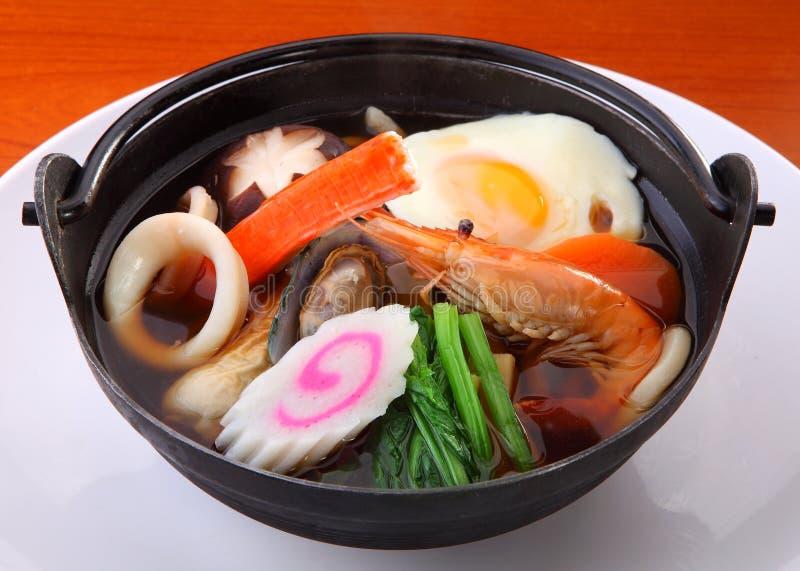 Nouilles de fruits de mer du Japon image libre de droits