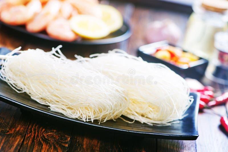 Nouilles de riz photographie stock