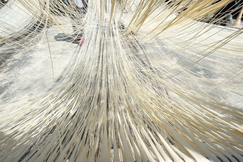 Nouilles faites main de Changhua Lukang Fuxing La manière traditionnelle de sécher la farine fine à Taïwan photo stock