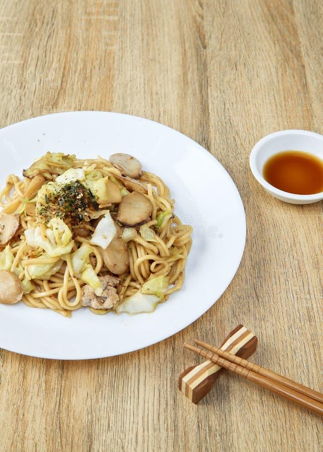 Nouilles japonaises Yakisoba de nourriture photo libre de droits
