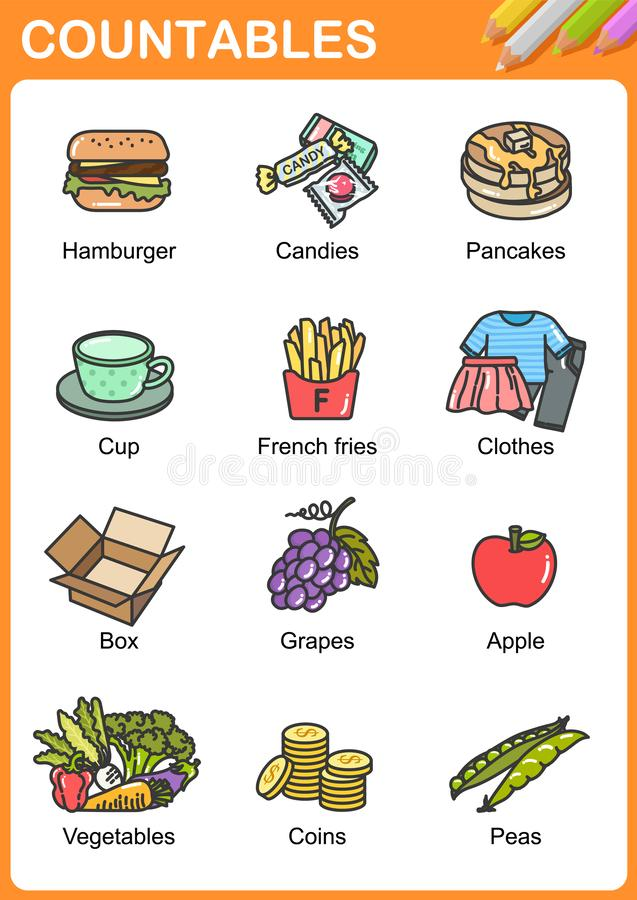 Free Nouns The Can Be Countable And Uncountable Stock Images - 140886544