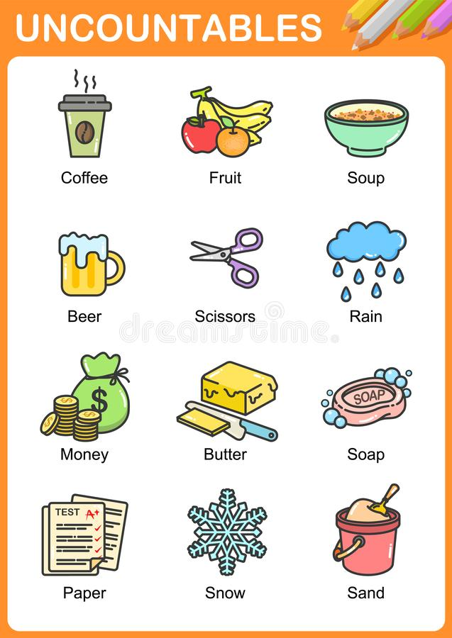 Free Nouns The Can Be Countable And Uncountable Royalty Free Stock Photo - 140886545