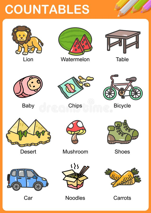 Free Nouns The Can Be Countable And Uncountable Stock Photo - 140886550