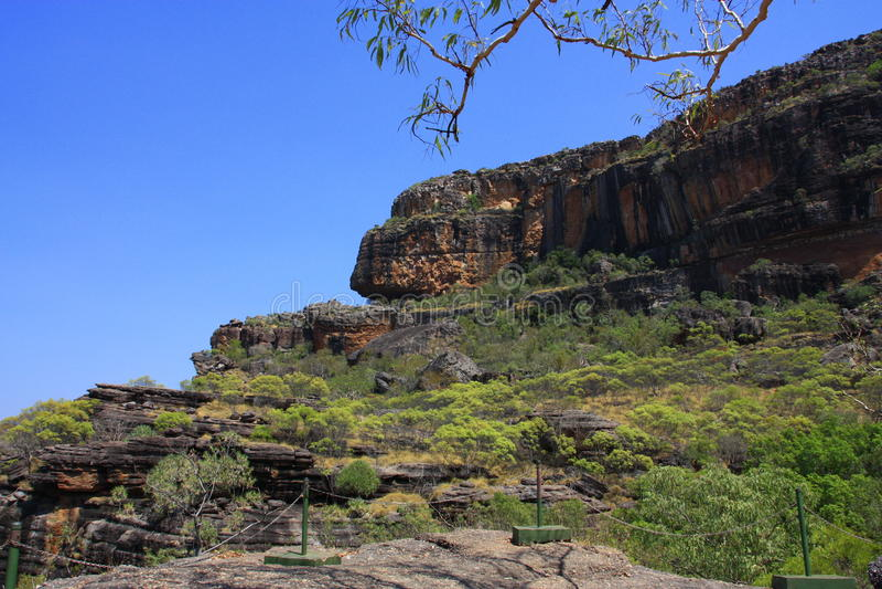 Nourlangie-Ausblick, an Nationalpark Kakadu, Nordterritorium, Australien lizenzfreie stockbilder