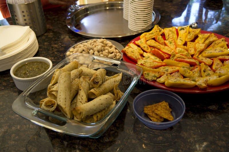Nourriture la maison am ricaine de partie image stock for Cuisine typique americaine
