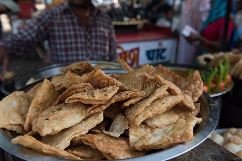 Nourriture épicée à Jaipur photographie stock libre de droits