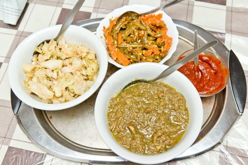 Nourriture éthiopienne traditionnelle photographie stock