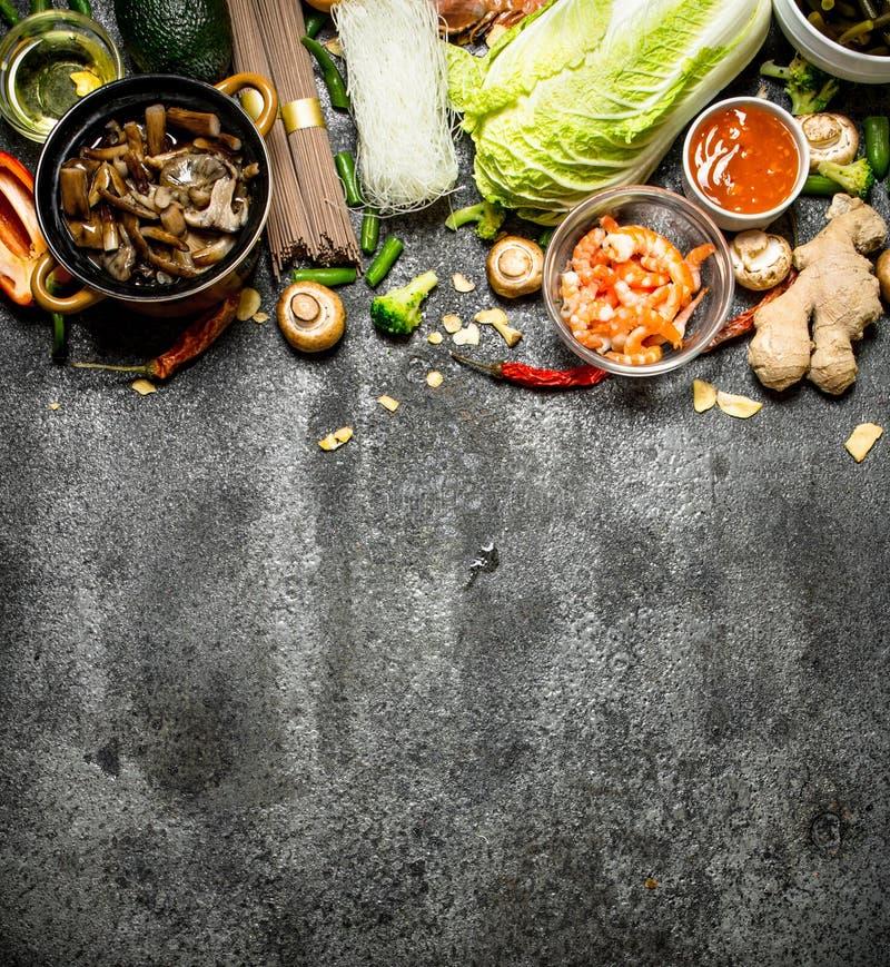 Nourriture asiatique photos stock