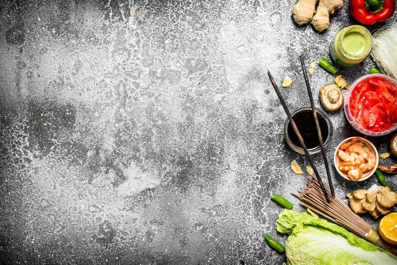 Nourriture asiatique photos libres de droits