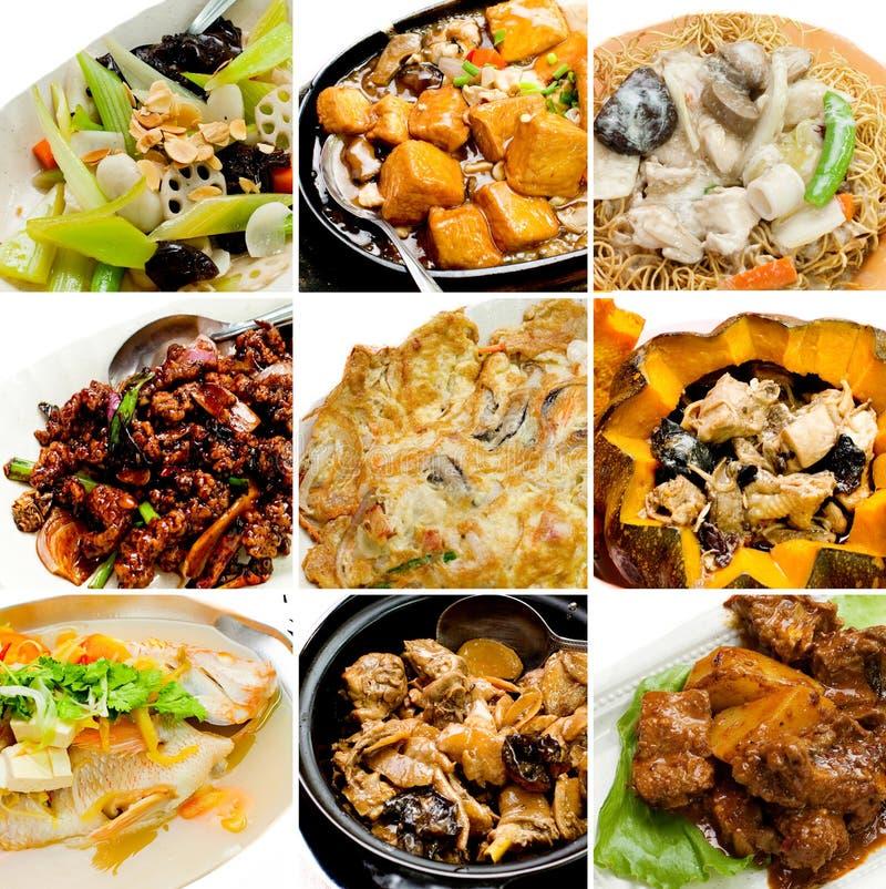 Nourriture asiatique chinoise de collection images stock