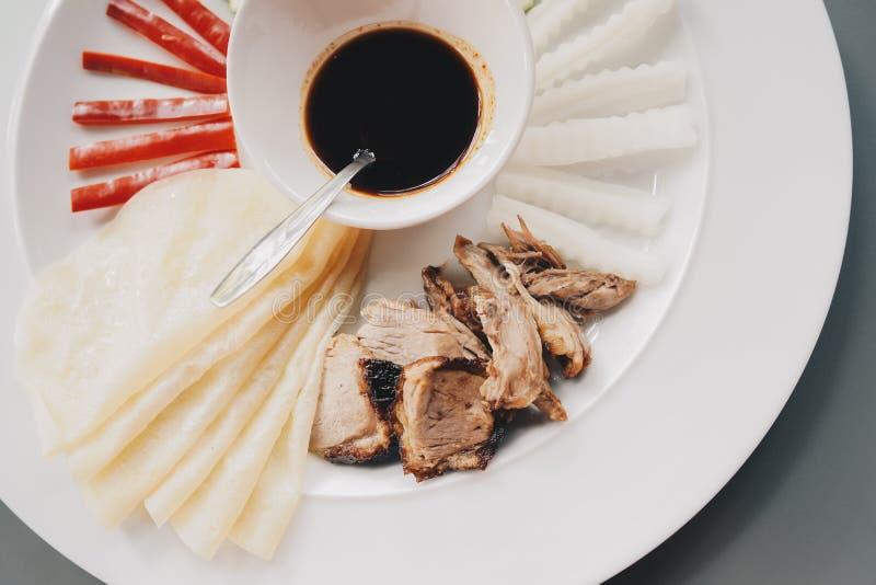 Nourriture asiatique Taiwan de nourriture de canard de Pekking photo stock