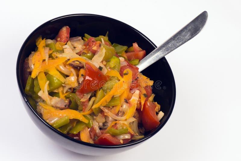 Download Nourriture Avec Des Légumes Image stock - Image du légumes, noir: 77154485