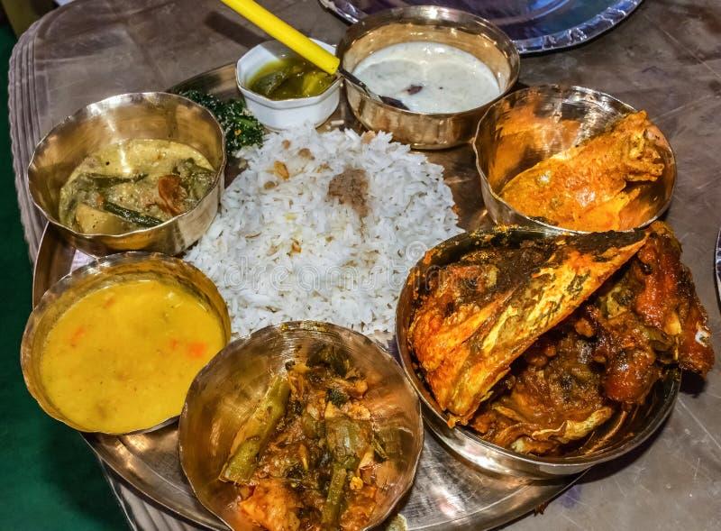 Nourriture bengali traditionnelle images libres de droits