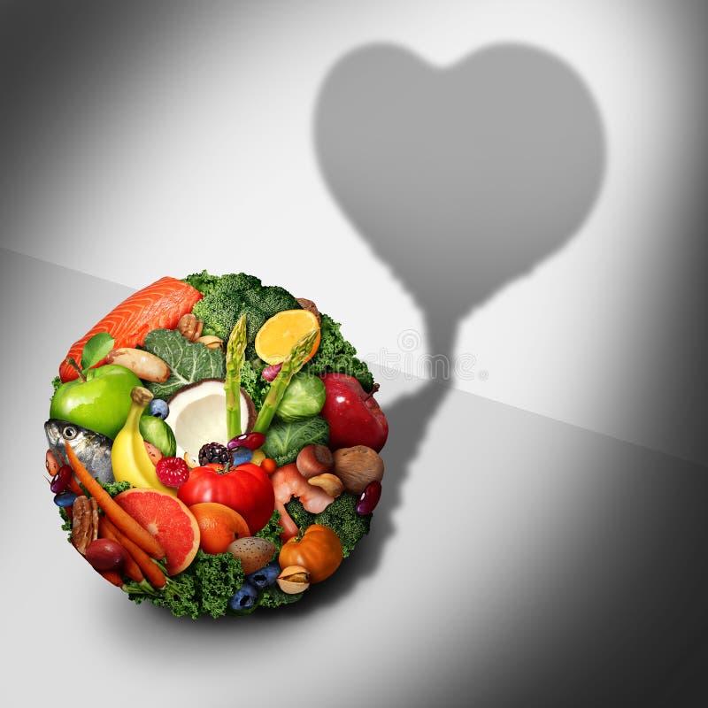 Nourriture biologique de coeur illustration libre de droits