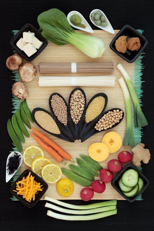Nourriture biologique de régime macrobiotique photographie stock