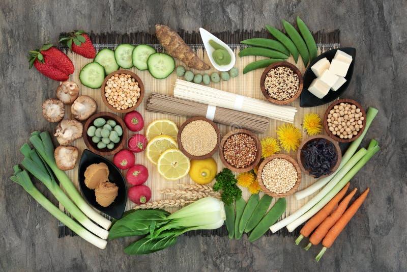 Nourriture biologique macrobiotique photo stock
