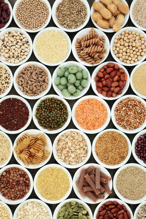 Nourriture biologique macrobiotique images stock